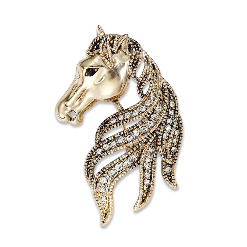 Rhinestone-_Horse_-Head-_Brooch-_Pin-_Gold___08709_zoom Complete Your Look and Prove Yourself with Brooches and Pins