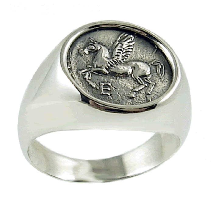 RingPegasusAncientgreekjewelryunico-1 25 Unique & Fashionable Coin Jewelry Pieces