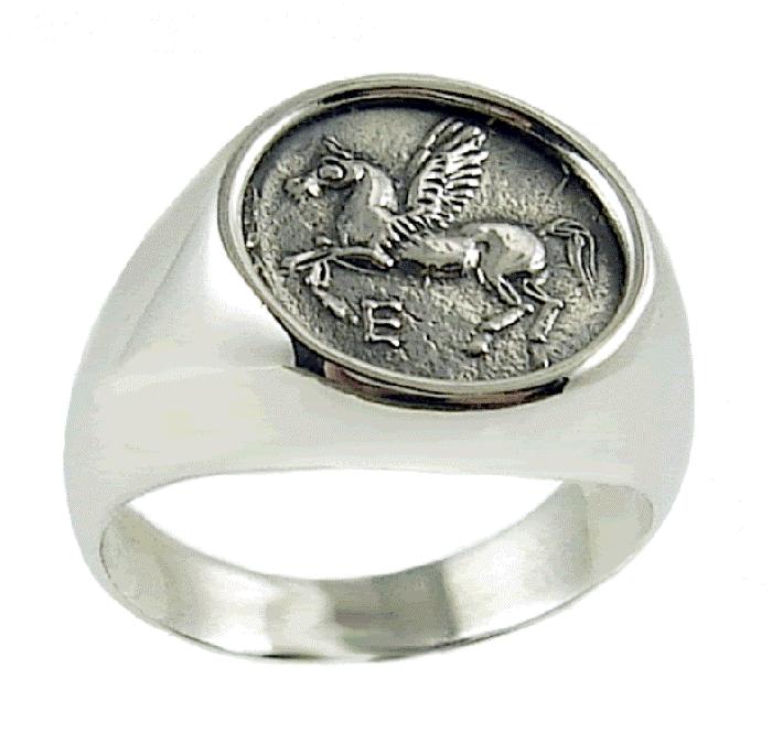 RingPegasusAncientgreekjewelryunico-1 25 Unique & Fashionable Coin Jewelry Pieces