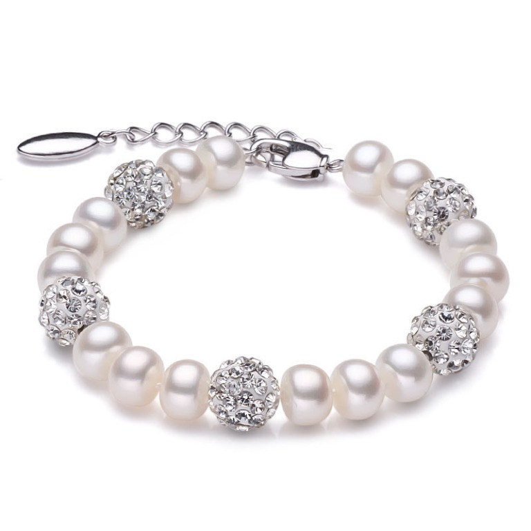 Shining-crystal-and-pearl-bracelet-ivory-white-font-b-real-b-font-freshwater-font-b-birthstone Meanings & Qualities which Are Associated with Birthstones