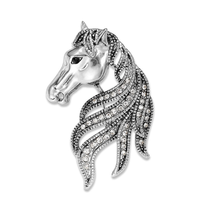 Silver-_Rhinestone-_Horse-_Head-_Pin-_Brooch__67481_zoom Complete Your Look and Prove Yourself with Brooches and Pins