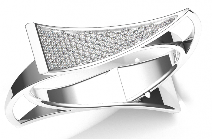 Silver-and-Diamond-Wedge-Bracelet-2 How to Take Care of Your Diamond Jewelry