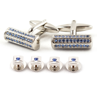 Silvertone-Blue-Crystal-Cuff-Link-and-Stud-Jewelry-Set-P15596826 Cufflinks: The Most Favorite Men Jewelry