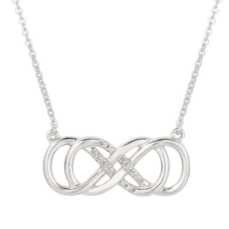 Sterling-Silver-Diamond-Accent-Double-Infinity-Necklace-L15341693 Infinity Jewelry to Express Your True & Infinite Love