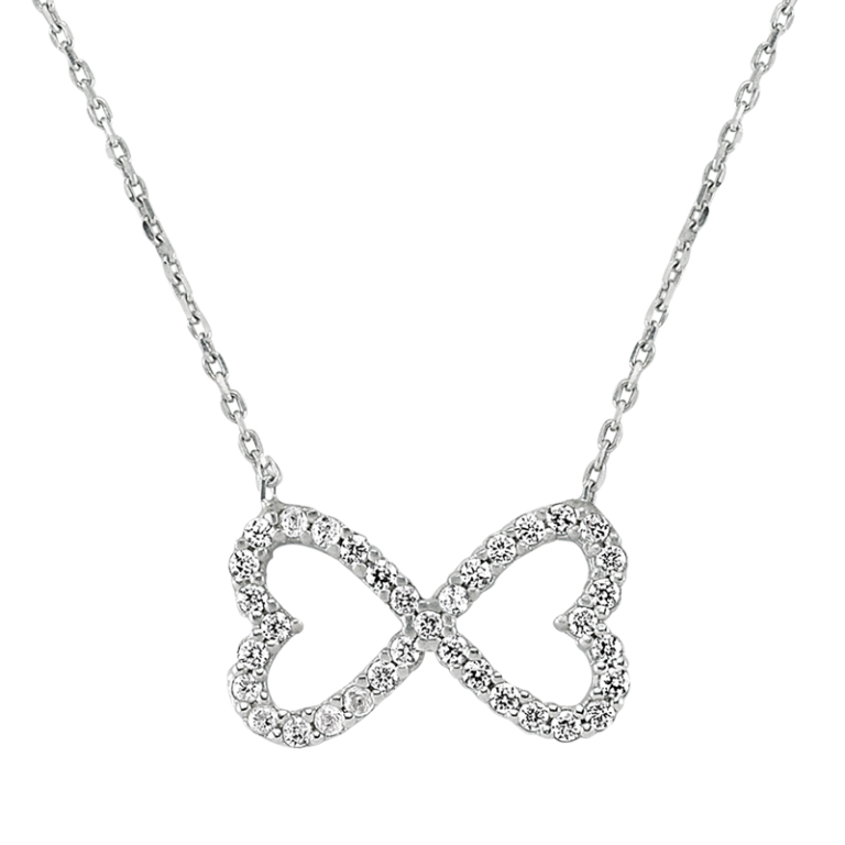 Sterling-Silver-Heart-Infinity-Necklace-392 Infinity Jewelry to Express Your True & Infinite Love