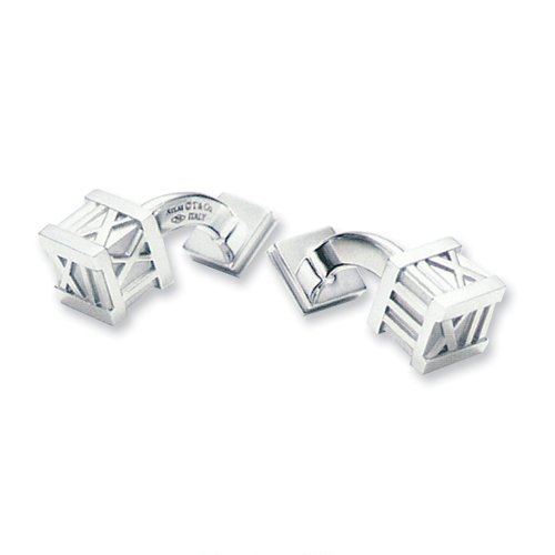 Tiffany-Jewelry-Cufflinks-Atlas-Of-Fine-Silver Cufflinks: The Most Favorite Men Jewelry