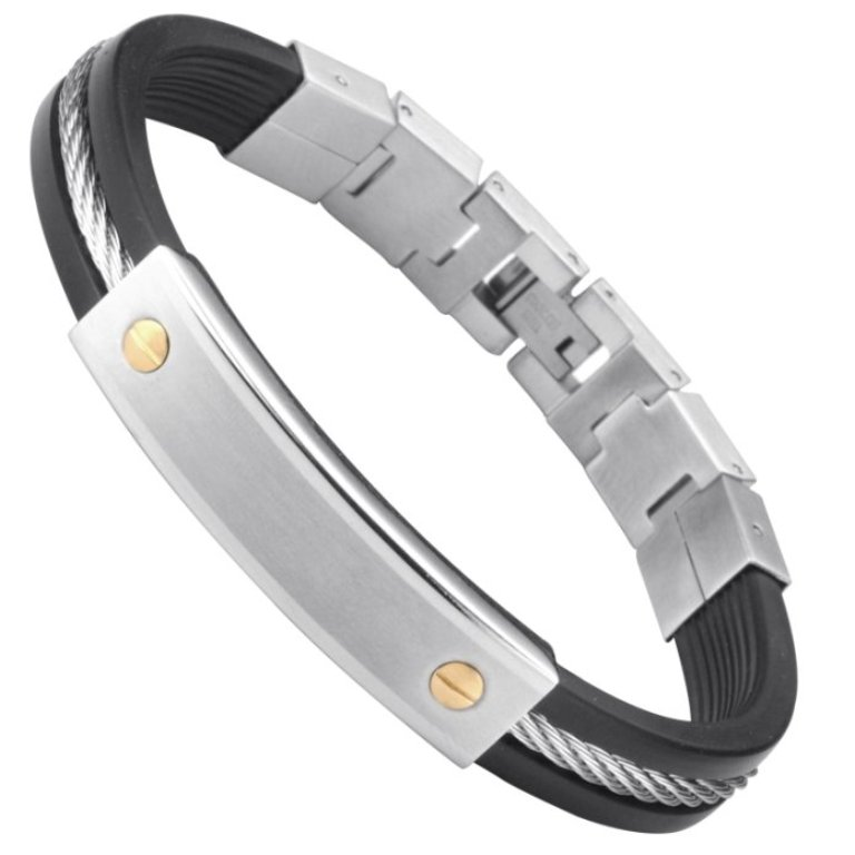 UNIQUE-RB-Stainless-Steel-Rubber-18K-GP-Bangle-Bracelet-main1 How to Clean Your Stainless Steel Jewelry