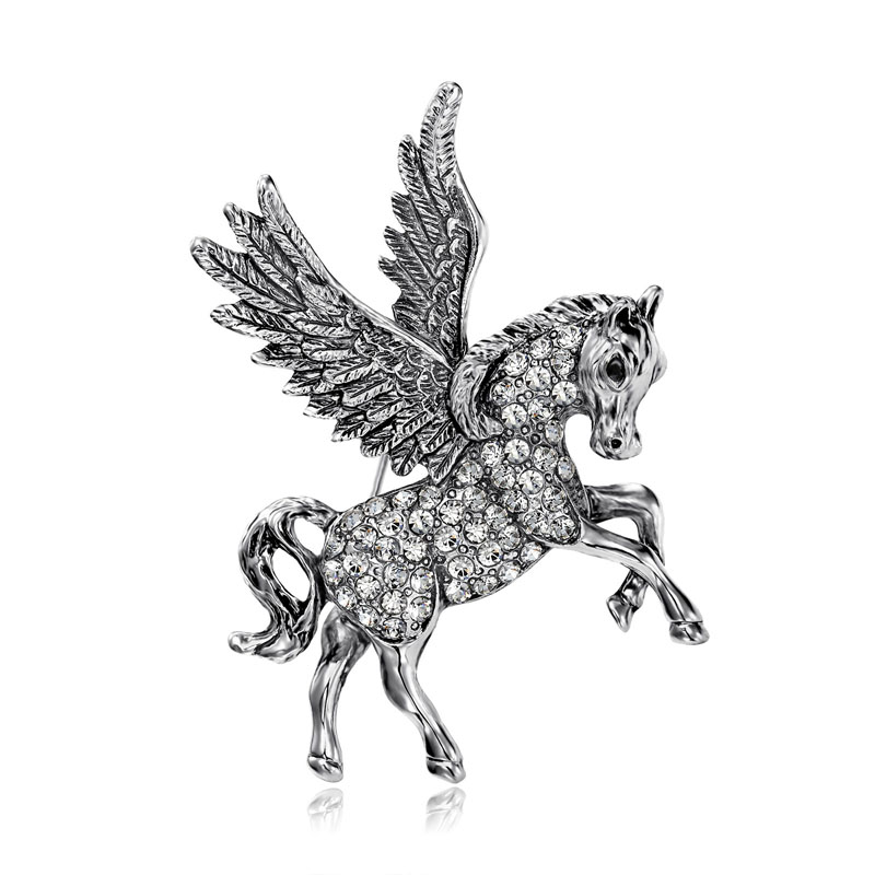 Vintage-Rhinestone-Pegasus-Brooch-Pin-Silver__32771_zoom Complete Your Look and Prove Yourself with Brooches and Pins