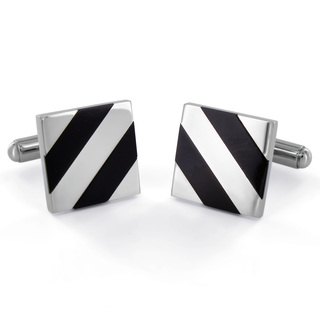 West-Coast-Jewelry-Stainless-Steel-Black-Onyx-Diagonal-Inlay-Cuff-Links-P13421546 Cufflinks: The Most Favorite Men Jewelry