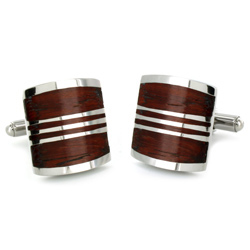 West-Coast-Jewelry-Stainless-Steel-Red-Wood-Inlay-Art-Deco-Cuff-Links-P12648870a Cufflinks: The Most Favorite Men Jewelry