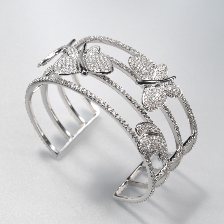 Winstar-Jewelry-Manufacturer-Limited_3D611Diamond-Bangle_Hong-Kong How to Take Care of Your Diamond Jewelry