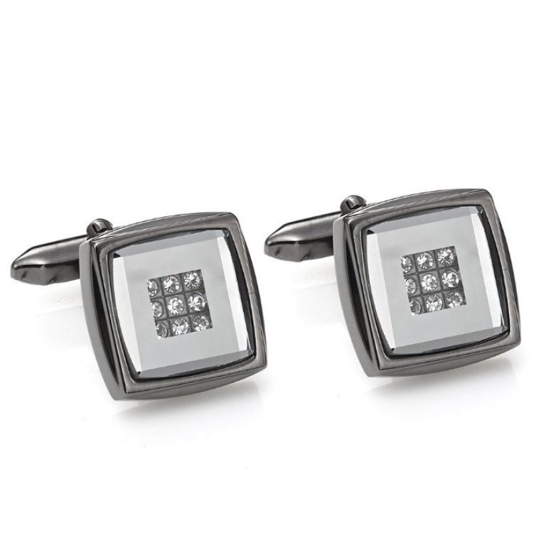 X894-21_MAIN-Sparkling-RnB-jewellery-Black-Stainless-Steel-CZ-Mens-Cufflinks How to Clean Your Stainless Steel Jewelry