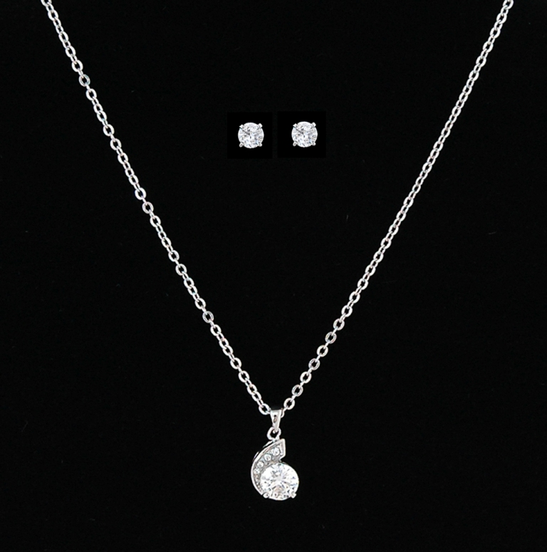 ZC-pendant-neckalce-set How to Choose the Right Wedding Jewelry for Your Bridesmaids