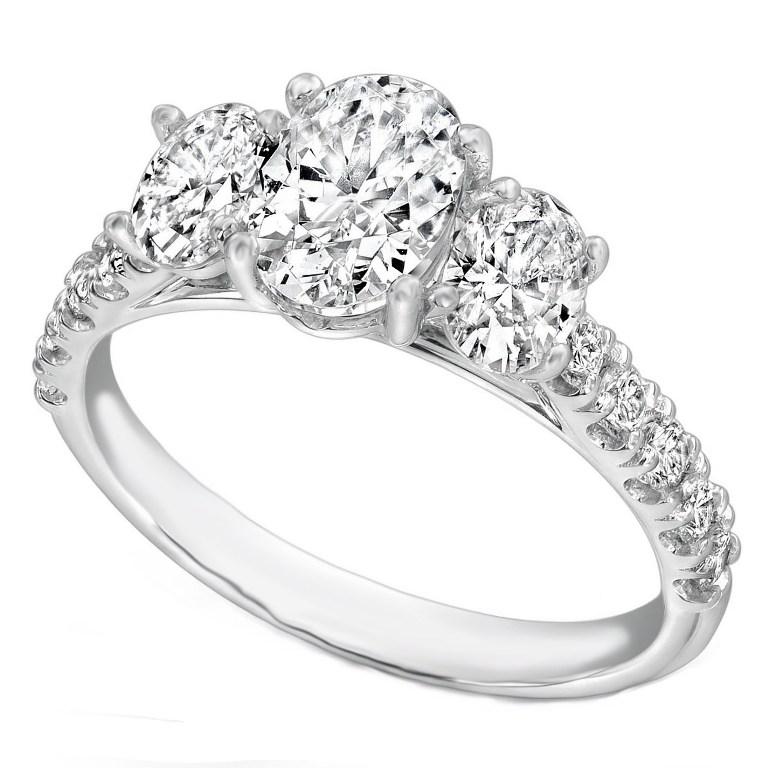 band-diamond-engagement-rings-blue-diamond-wedding-rings-women Easy Tricks to Make Your Diamond Look Larger