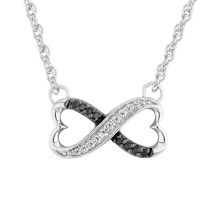 black-diamond-necklace-heart-noiwuyly Infinity Jewelry to Express Your True & Infinite Love
