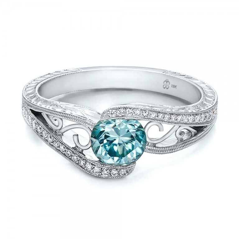 blue-diamond-engagement-ring-46 Easy Tricks to Make Your Diamond Look Larger