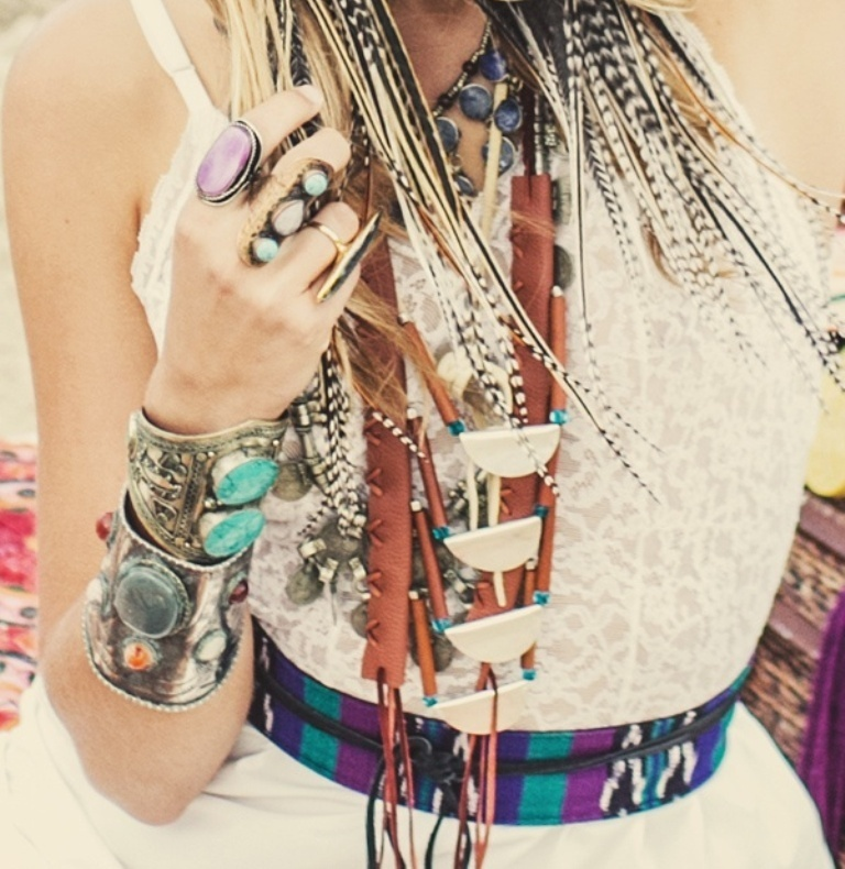 bohemian-jewelry Look Fashionable by Layering Your Jewelry