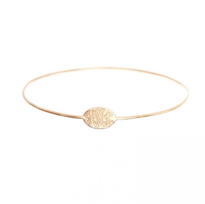 bracelet-w724 Express Your Love by Presenting Monogram Jewelry