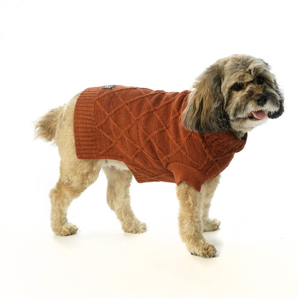 coopers-cable-knit-dog-sweater-rust-tweed-1 Top 35 Winter Clothes for Dogs
