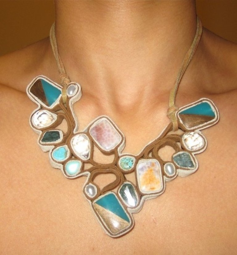 custom-suede-leather-jewelry Top 25 Breathtaking & Stylish Leather Jewelry Pieces