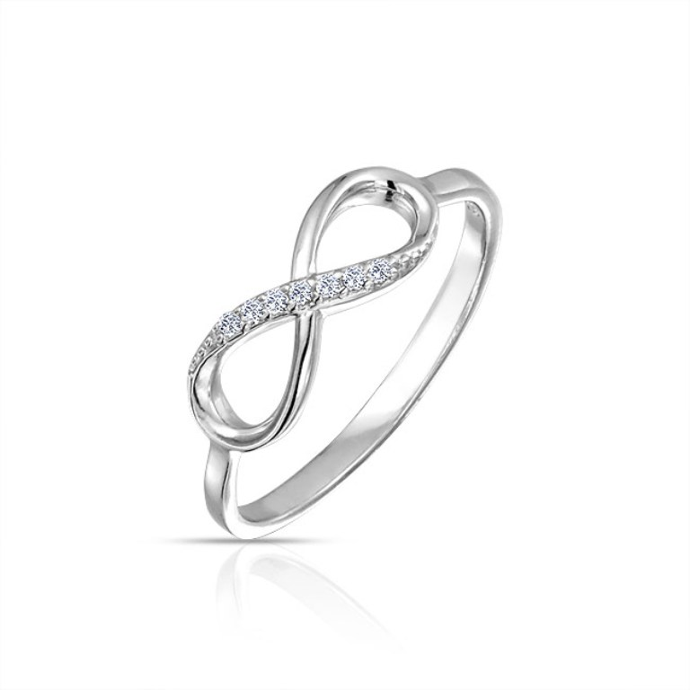 cz-ring-infinity-sterling-silver_pfs-51-0877 Infinity Jewelry to Express Your True & Infinite Love