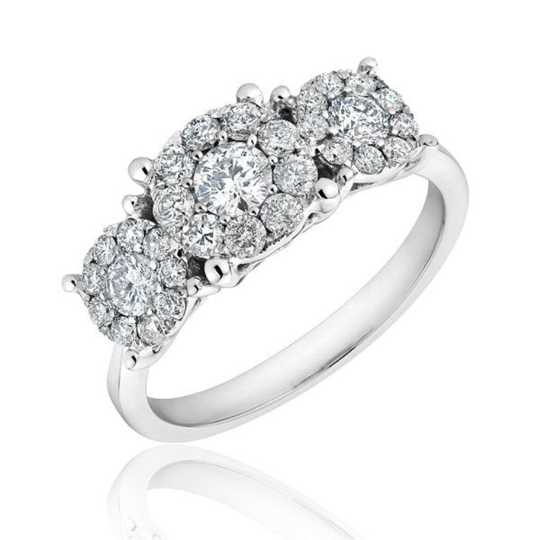 diamond-flower-engagement-ring-pinterest-12 Cluster Engagement Rings for Those who Are on a Budget