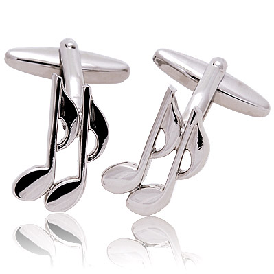 double-8th-note-cufflinks Cufflinks: The Most Favorite Men Jewelry