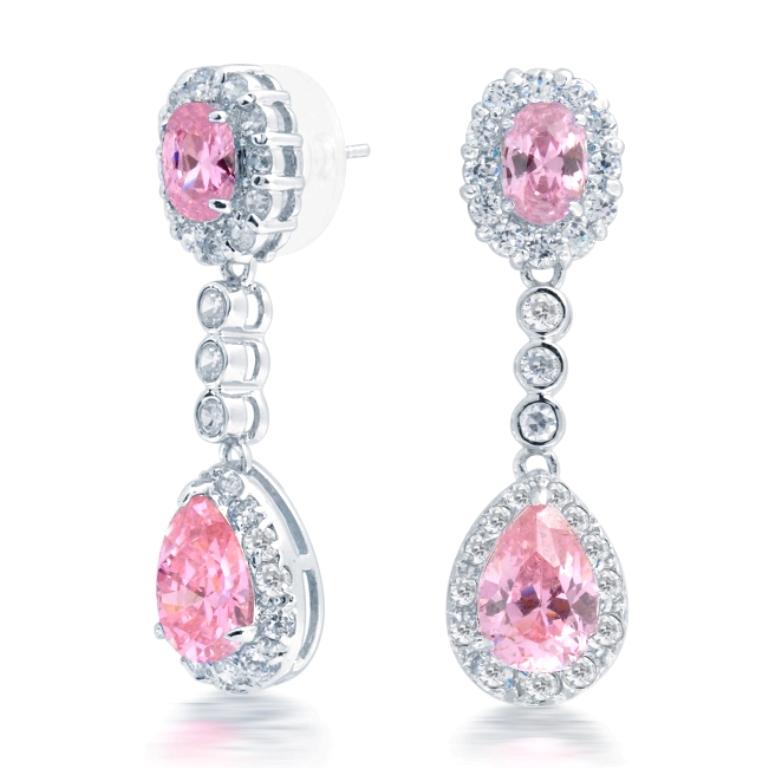earrings-teardrop-oval-crownset-chandelier-earrings-5834 Pink Topaz Jewelry as a Romantic Gift