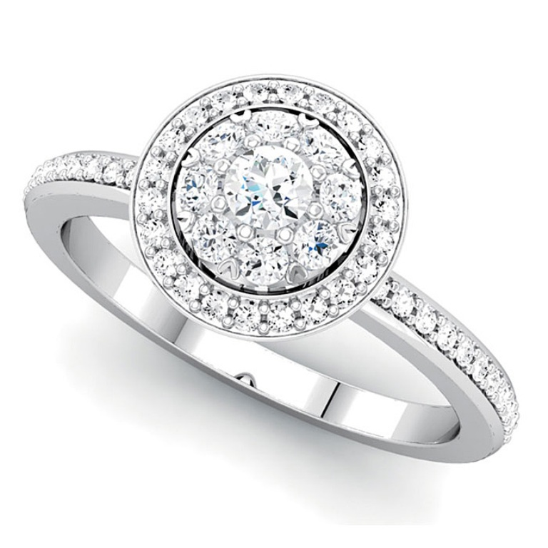 engagement-rings-that-cost-less-than-5000-stuller-round Cluster Engagement Rings for Those who Are on a Budget