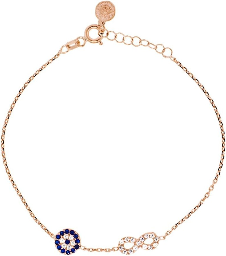 evil-eye-infinity-rose-gold-bracelet1a Infinity Jewelry to Express Your True & Infinite Love