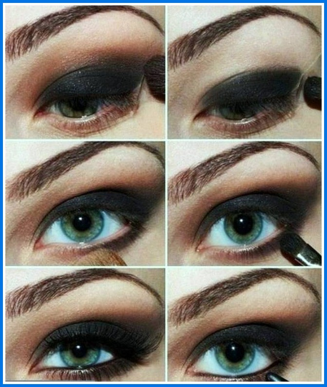 eye-makeup-for-blue-eyes-step-by-step How to Wear Eye Makeup in six Simple Tips