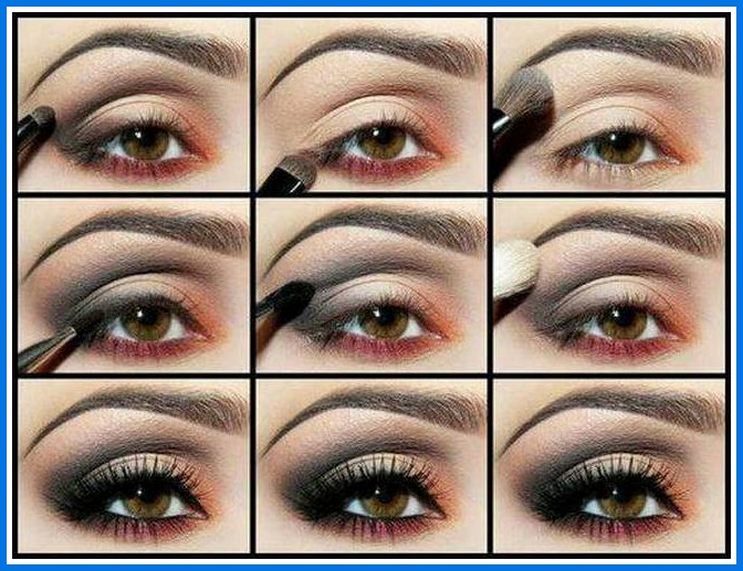 eye-makeup-for-brown-eyes-step-by-step How to Wear Eye Makeup in six Simple Tips