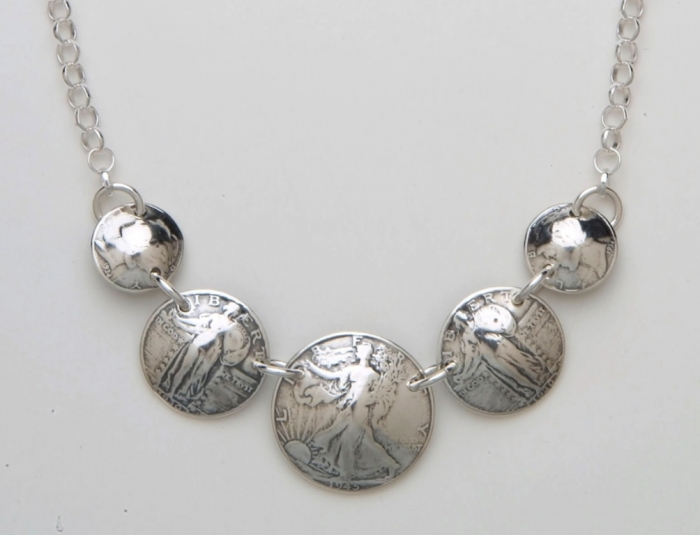 five-coin-necklace 25 Unique & Fashionable Coin Jewelry Pieces