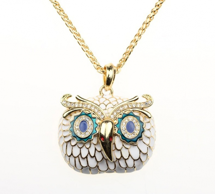 free-shipping-fashion-enamel-owl-shaped-necklace-animal-gold-necklace 69 Dress Jewelry Pieces in the Shape of Your Favorite Animal