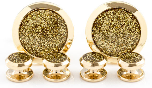 gold-diamond-dust-tuxedo-cufflinks-and-studs-22 Cufflinks: The Most Favorite Men Jewelry