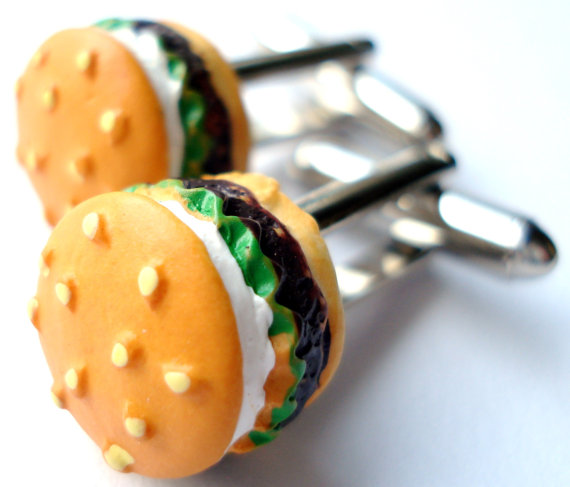hamburgercufflinksetsy Cufflinks: The Most Favorite Men Jewelry