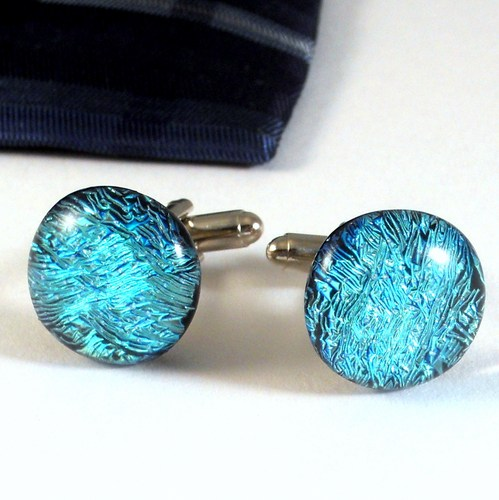handmade_cufflinks_aqua_blue_ice_dichroic_glass_men_s_jewelry_ooak_9c8eae3e Cufflinks: The Most Favorite Men Jewelry