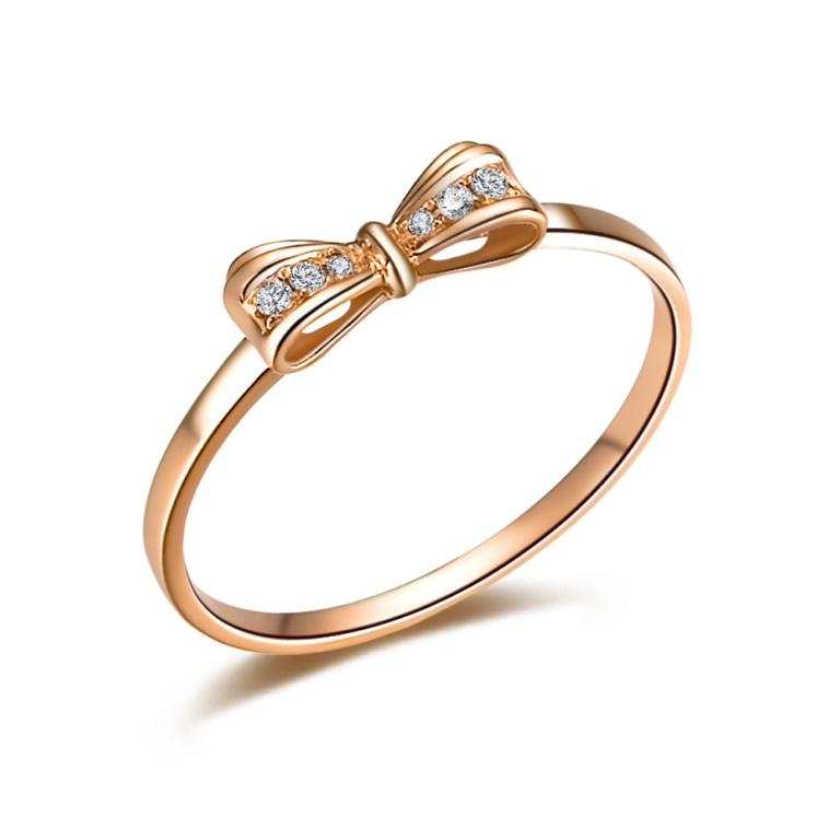 ilsommo-brand-cute-bow-natural-real-certified-006-ct-h-si-diamond-ring-round-cut-jewelry-solid-18k-rose-gold-free-shipping_1 How to Buy Jewelry Online without Losing Money