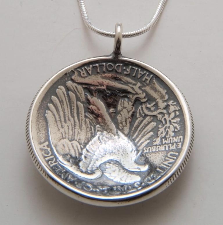 lady-half-pendant-back 25 Unique & Fashionable Coin Jewelry Pieces