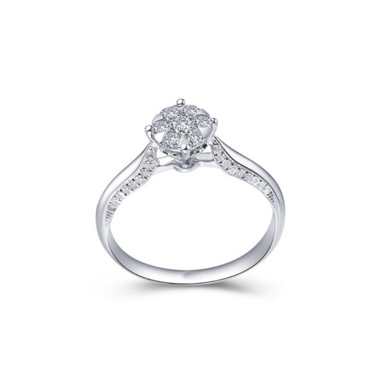 luxurious-cluster-halo-diamond-engagement-ring-for-women Cluster Engagement Rings for Those who Are on a Budget