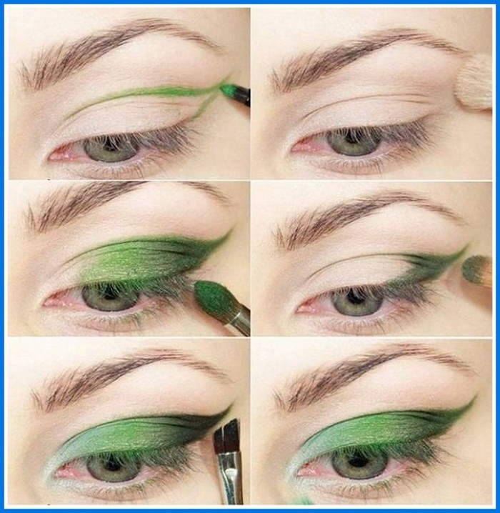 makeup-for-green-eyes-step-by-step-700x718 How to Wear Eye Makeup in six Simple Tips