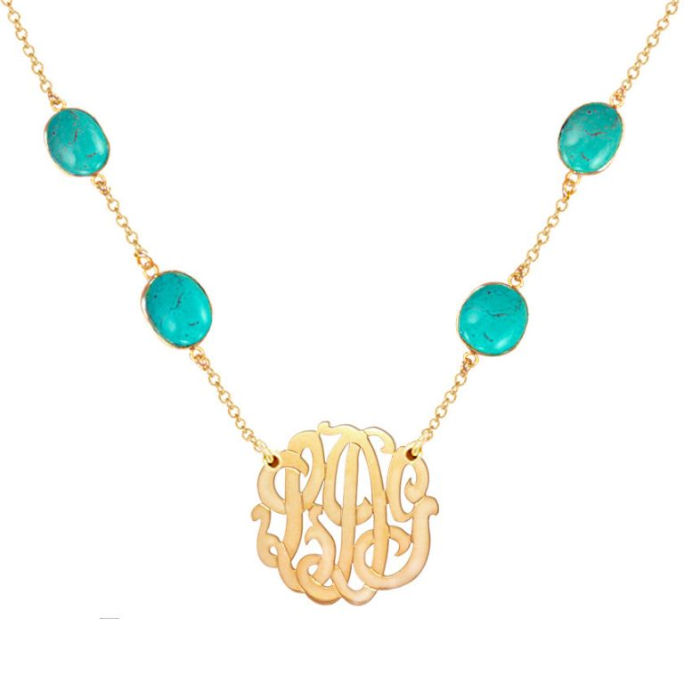 monogram-gemstone-necklace Express Your Love by Presenting Monogram Jewelry