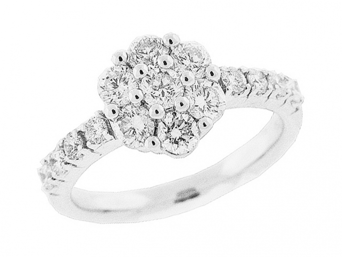 mr7992-1 Cluster Engagement Rings for Those who Are on a Budget