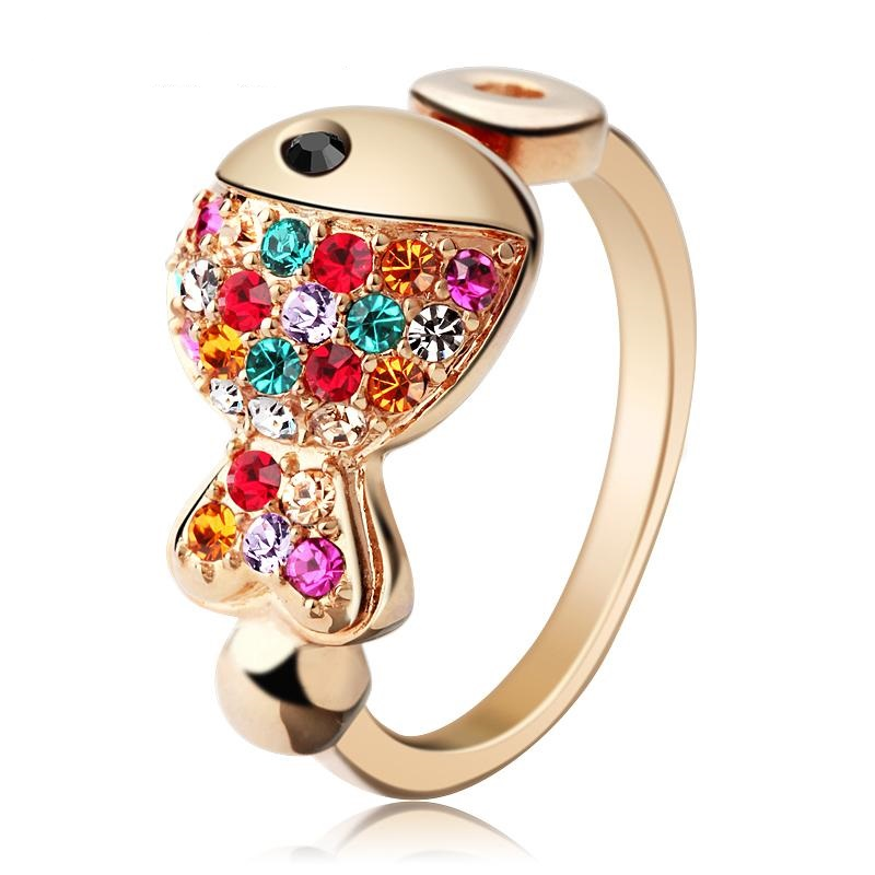 opening-400-female-korean-version-of-the-cute-little-rings-crystal-rings-jewelry-birthday-clown-fish-gift_1 69 Dress Jewelry Pieces in the Shape of Your Favorite Animal