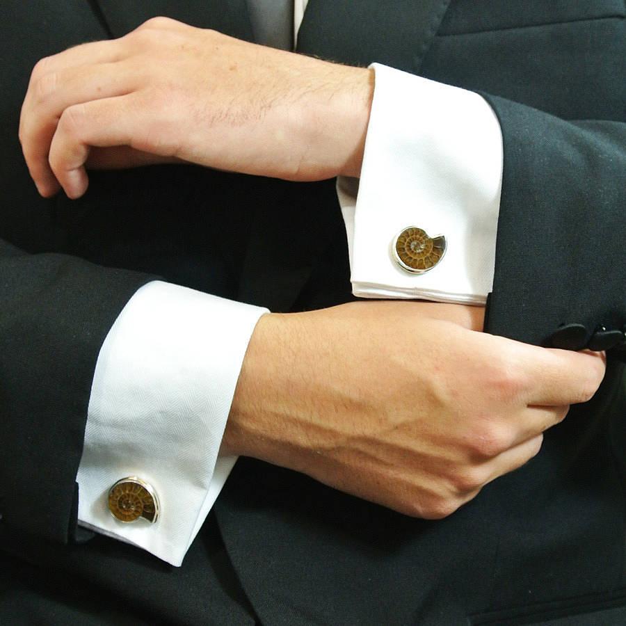 original_ammonite-cufflinks-medium Cufflinks: The Most Favorite Men Jewelry