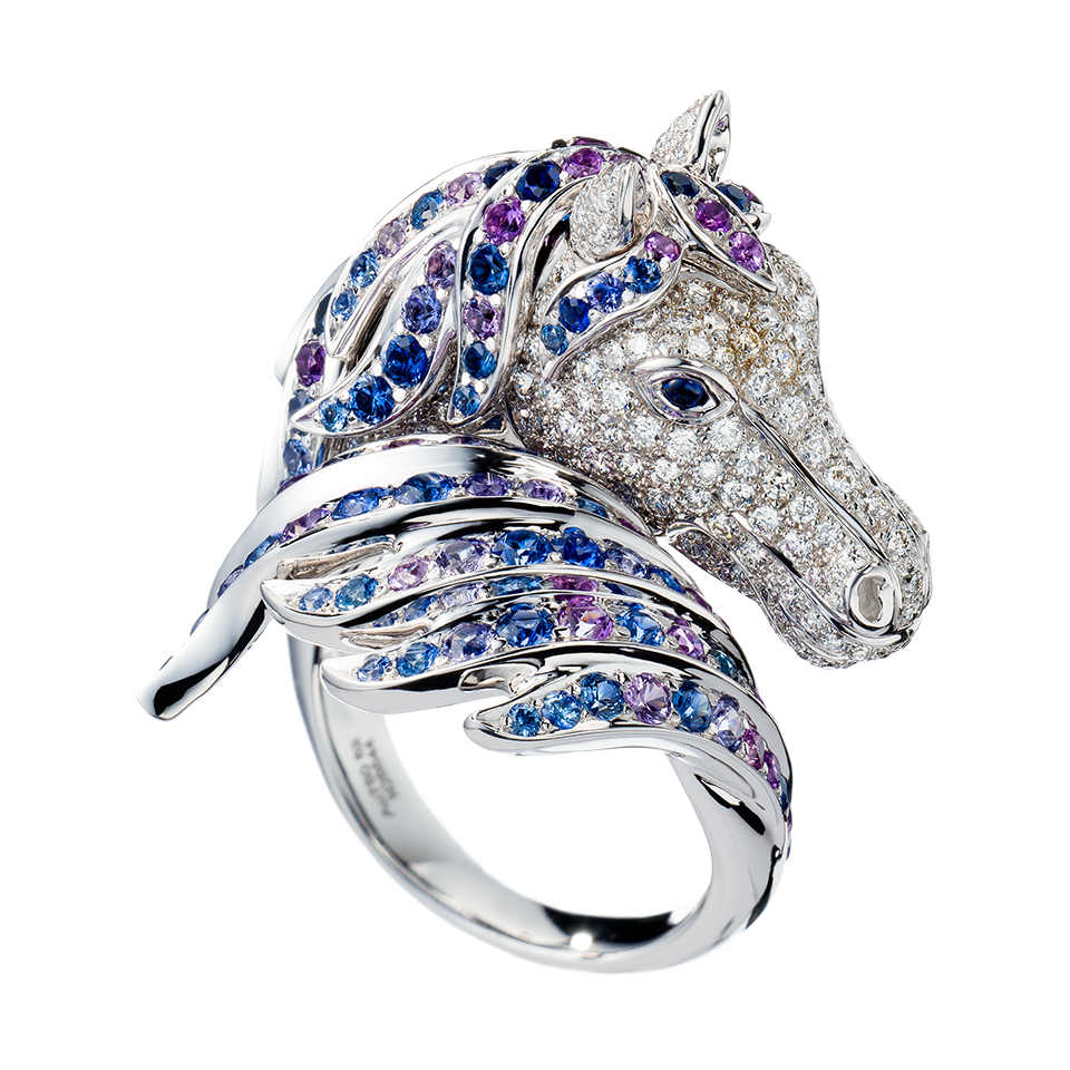 pegase-yellow-god-ring-jrg01434 69 Dress Jewelry Pieces in the Shape of Your Favorite Animal