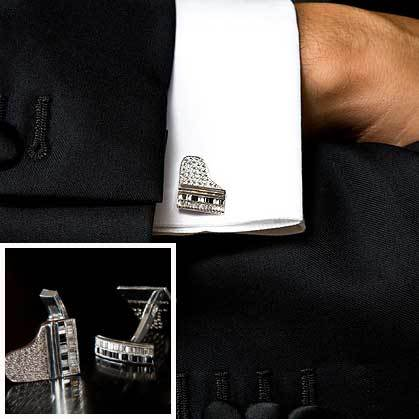 piano_cufflinks Cufflinks: The Most Favorite Men Jewelry