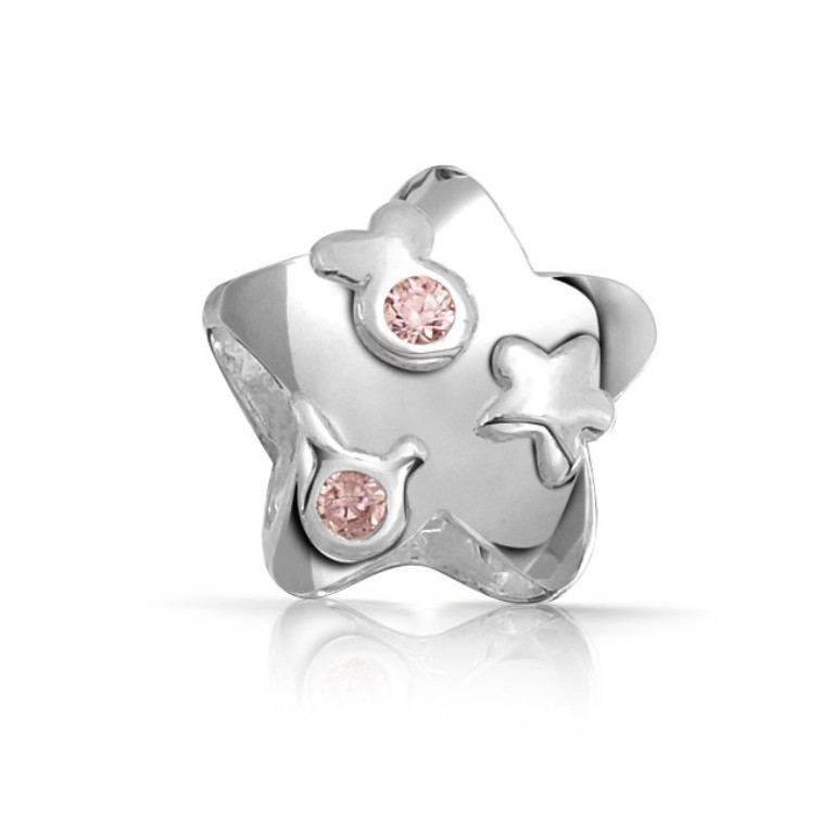 pink-star-bead-birthstone-silver-fit-pandora_1 Pink Topaz Jewelry as a Romantic Gift