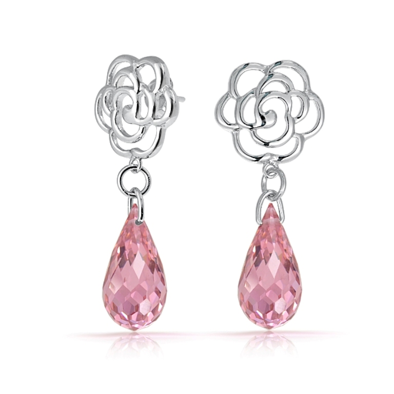 pink-topaz-briolette-flower-dangle-dt-le0568 Pink Topaz Jewelry as a Romantic Gift