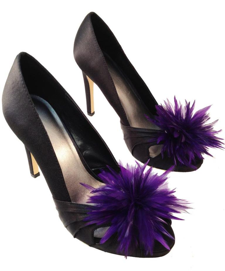 purple-feather-shoe-clips-800x962 27 Ideas Bring a New Life to Your Shoes by Adding Shoe Clips & Charms